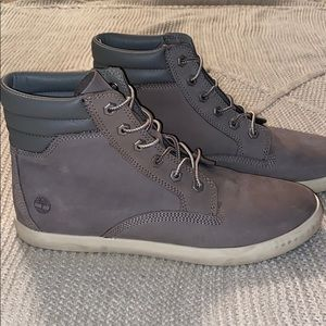 Timberland grey lace up womens boots sz 10
